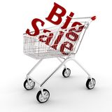 3d shopping cart, isolated on white Royalty Free Stock Photography