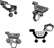 3D Shopping Carts And Cursors Stock Images
