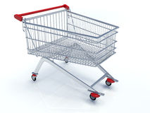 3D Shopping Chart. A 3d render of a shopping chart Royalty Free Stock Photography