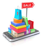 3D shopping concept Stock Images