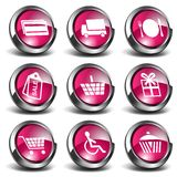 3D Shopping Icons Royalty Free Stock Photos