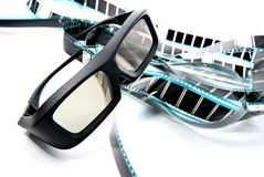 3D shutter glasses Stock Photography