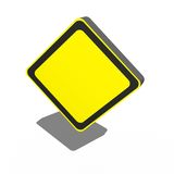 3D Sign. A 3d sign isolated against a white background Stock Photography