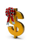3d Sign of dollar and ribbon. Stock Photos