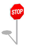 3d sign stop Stock Photos