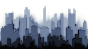 3d silhouette city on a white background Stock Images