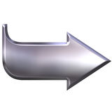 3D Silver Arrow Stock Image