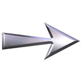 3D Silver Arrow Royalty Free Stock Photography