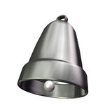3D silver bell Stock Image