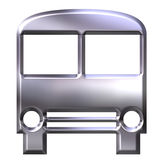 3D Silver Bus Royalty Free Stock Image