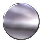 3D Silver Button Royalty Free Stock Photos