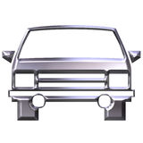 3D Silver Car Royalty Free Stock Photo
