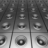 3d silver chrome sound-system deejay dj set Stock Images