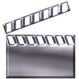 3D Silver Clap Board Stock Image