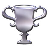 3D Silver Cup Royalty Free Stock Photo