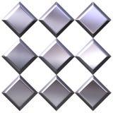 3D Silver Diamonds Royalty Free Stock Photos