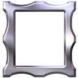 3D Silver Frame Stock Photos
