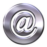3D Silver Framed Email Symbol Royalty Free Stock Image