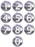 3D Silver Framed Numbers Stock Images