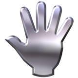 3D Silver Hand Stock Photos