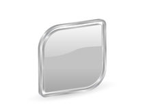 3d silver icon with contour Stock Image