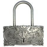 3d silver lock Stock Image