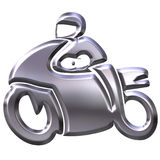 3D Silver Motorbike Stock Image