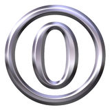 3D Silver Number 0 Royalty Free Stock Images