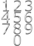 3D Silver Numbers Stock Photos