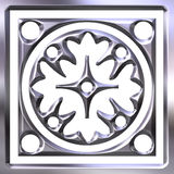 3D Silver Ornament Royalty Free Stock Photography