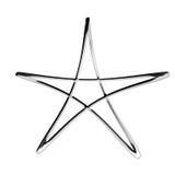 3d silver pentagram symbol Stock Photos