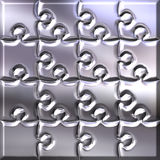 3D Silver Puzzle Stock Images