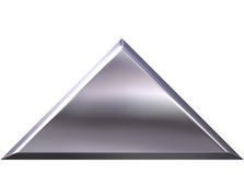 3D Silver Pyramid Stock Image