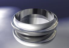 3D Silver Ring Stock Photo