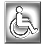 3D Silver Special Needs Sign Royalty Free Stock Images