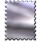 3D Silver Stamp Royalty Free Stock Photo