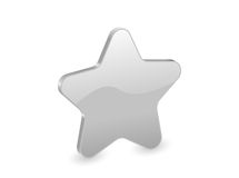 3d silver star Stock Photos