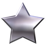 3D Silver Star Stock Images