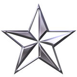 3D Silver Star Royalty Free Stock Photos