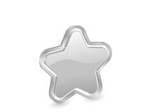 3d silver star with contour Stock Images