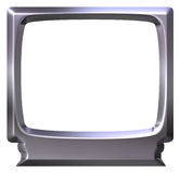 3D Silver TV Royalty Free Stock Images