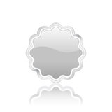 3D silver vector badge Stock Photo