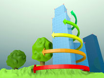 3D sity Stock Photography