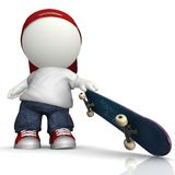 3D Skater boy Royalty Free Stock Photography