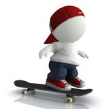3D Skater boy Stock Photos