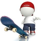 3D Skater boy Royalty Free Stock Image