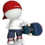 3D Skater boy Royalty Free Stock Images