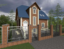 3D sketch of house Stock Images