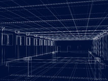 3d sketch of an interior of a public building Stock Images