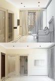 3d skissar av en inrebrunnsort Royaltyfria Bilder